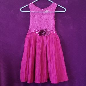 Emily West Hot Pink Lace Sequin Formal Party Dress
